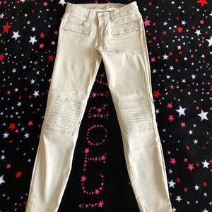 Zara coated skinny jeans